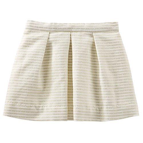 OshKosh B'Gosh Big Girls' Sparkle Stripe Skirt - Ivory (7) -