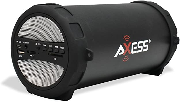 Portable Wireless Bluetooth Speaker Rechargeable Stereo Cylinder SD FM AUX