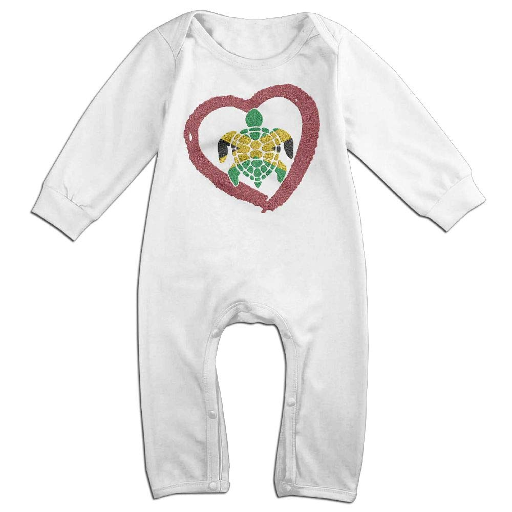 Mri-le1 Baby Boy Coverall Sea Turtle Jamaica Heart Infant Long Sleeve Romper Jumpsuit