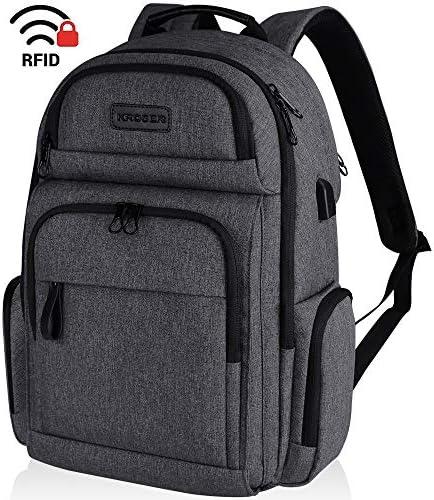KROSER Backpack Water Repellent Women Charcoal Black product image