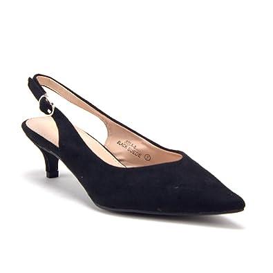 56e6f18e8d2 J aime Aldo Women s Pointy Toe Slingback Low Kitten Heels Pumps Shoes