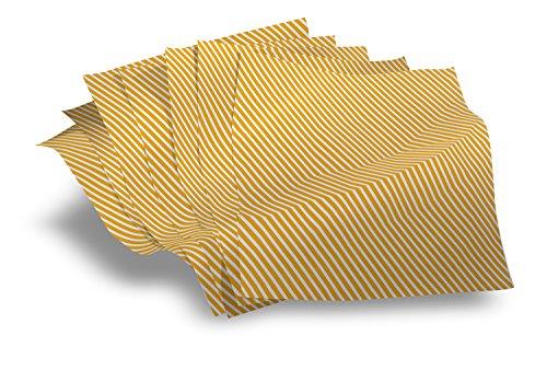 Deli wickeln Sonnenschein Streifen Lebensmittel / Luxus-Verpackung 250 Blatt Packung (Größe 500 mm x 335 mm)