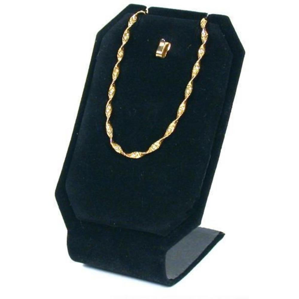 Pendant Necklace Display Stand Black Velvet Showcase 214-1BK