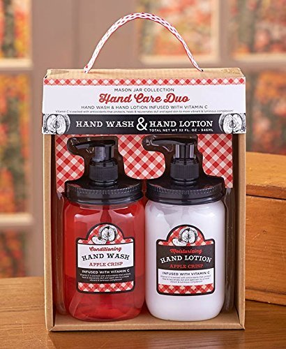 Apple Crisp Mason Jar Soap and Lotion Sets