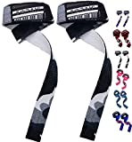 EMRAH Lifting Straps (Pair) - Weightlifting Hand Bar Wrist Support Hook Wraps, Wrist