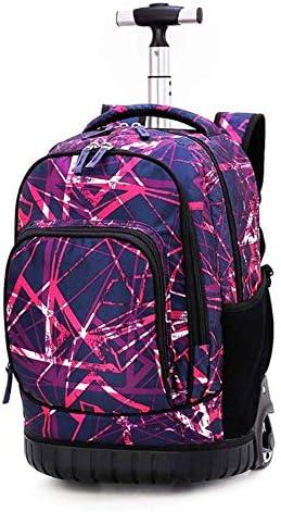 RMXMY High Capacity Junior Gymnasiasten Trolley Bag Boy Reiserucksack Schüler Umhängetasche Female 5-9 Grade Burden Protection Ridge (Color : G)