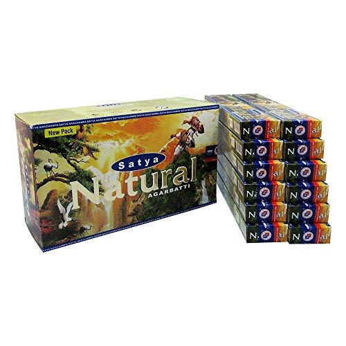 Satya Natural Agarbatti Pack of 12 Incense Sticks Boxes 15gms Each Supreme Quality Incense Sticks for Relaxation, Positivity and Peace