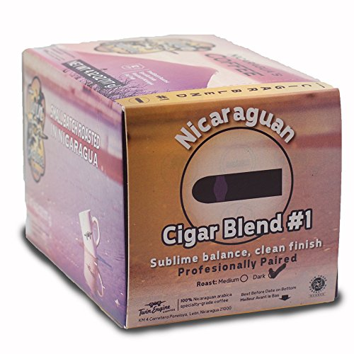 Twin Engine Coffee Cigar Blend Medium 36 capsules, Keurig 2.0 compatible, Nicaragua's Coffee