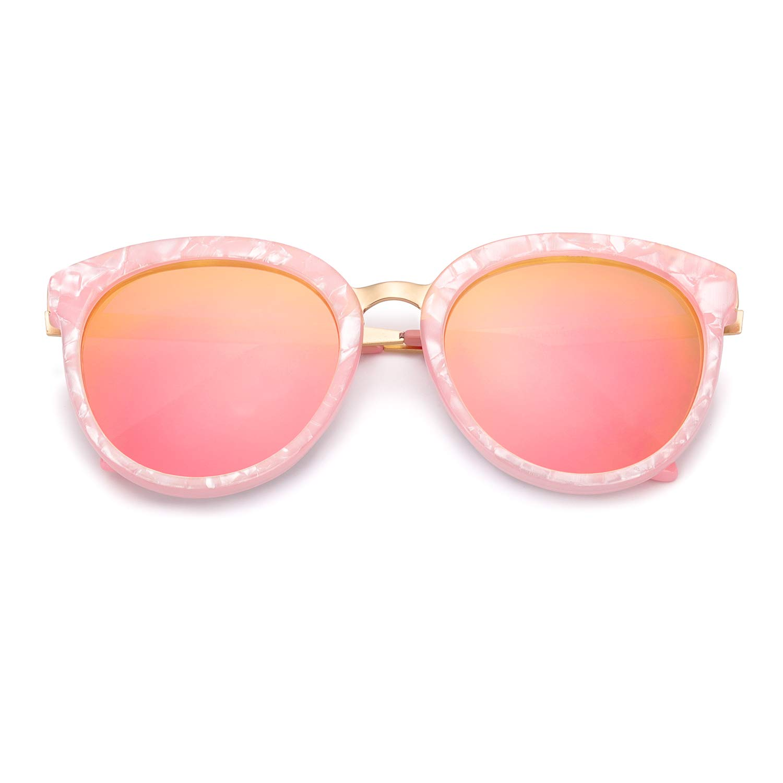Amazon.com: Enafad - Gafas de sol para mujer con espejo ...