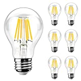 Ascher E26 LED Classic Light Bulbs / 8W, Equivalent 75W, 1000lm /...