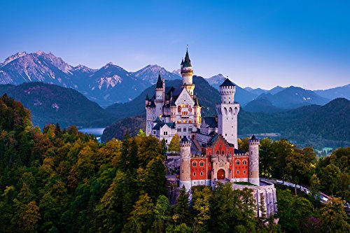 Adult Jigsaw Puzzle Neuschwanstein Castle Bavaria Germany 500-Pieces