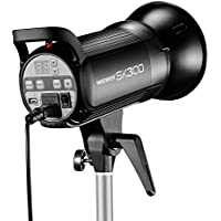 Neewer 300W 5600K Bowens Mount Photo Studio Strobe Flash Light Monolight with Lamp Head for Studio,Location and Portrait Photography (SK300)