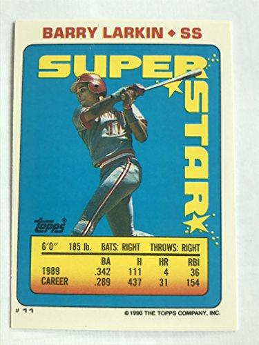 1990 Topps Sticker Backs #11(106,199) Barry Larkin NM/M (Near Mint/Mint) ()