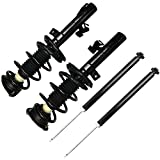 Complete Struts Shock Absorbers Fits for 04-09 Mazda 3 - 06-10 Mazda 5 cciyu 172264 172263 5607 Quick Struts Assembly Front Rear Pair Struts