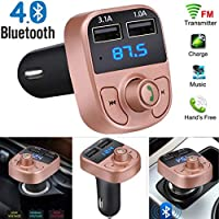 MChoice Wireless Bluetooth Handsfree Car Kit FM Transmitter MP3 Player Dual USB Charger