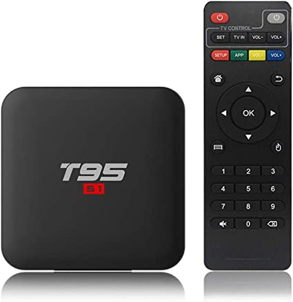 Docooler T95 S1 Android 7.1 TV Box Amlogic S905W Smart TV Set Top Box Control Remoto por Voz Quad Core H.265 1GB / 8GB 2.4G WiFi 100M LAN HD Reproductor Multimedia HD