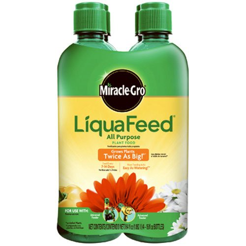 (Miracle-Gro 1004325 LiquaFeed All Purpose Plant Food Refill Pack (Does not Include Spoon), 16 oz. - 4)