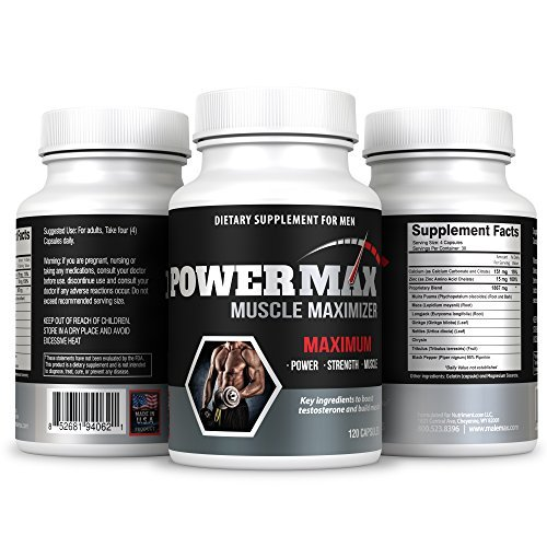 Powermax Testosterone Booster- 120 Capsules - Boost Testosterone Naturally- Test Booster- Testosterone Enhancing Formula (Best Way To Raise Testosterone Naturally)