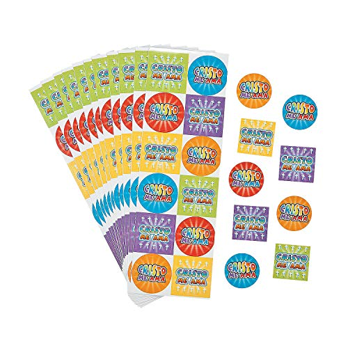 Fun Express - Spanish Jesus Loves Me Stickers for Cinco de Mayo - Stationery - Stickers - Stickers - Sheets - Cinco de Mayo - 24 Pieces
