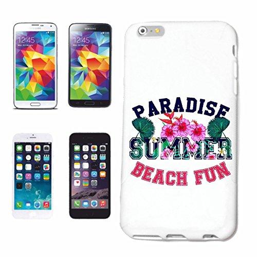 caja del teléfono iPhone 7 PARADISE BEACH SUMMER FUN FUN BEAXG Summer Paradise Surf Beach TABLAS LONGBOARD olas de surf Beginner Shop Caso duro de la cubierta Teléfono Cubiertas cubierta para el App