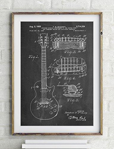 Gibson Les Paul Guitar Patent Poster