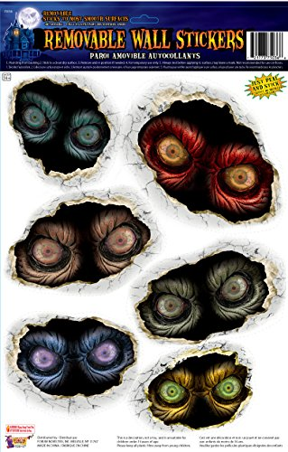Forum Novelties Spooky Eyeball Removable Wall Stickers, Multicolor