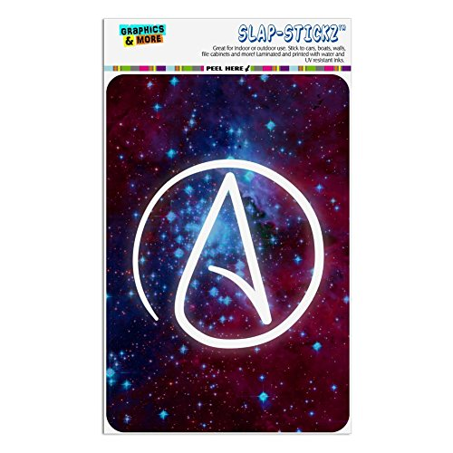 Graphics and More Atheist Atheism Symbol In Space Home Business Office Sign - Window Sticker - 4
