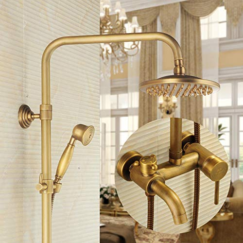 B Hlluya Professional Sink Mixer Tap Kitchen Faucet Retro bathrooms, hot and cold plunge water taps in the pressurized shower shower shower set-copper, B