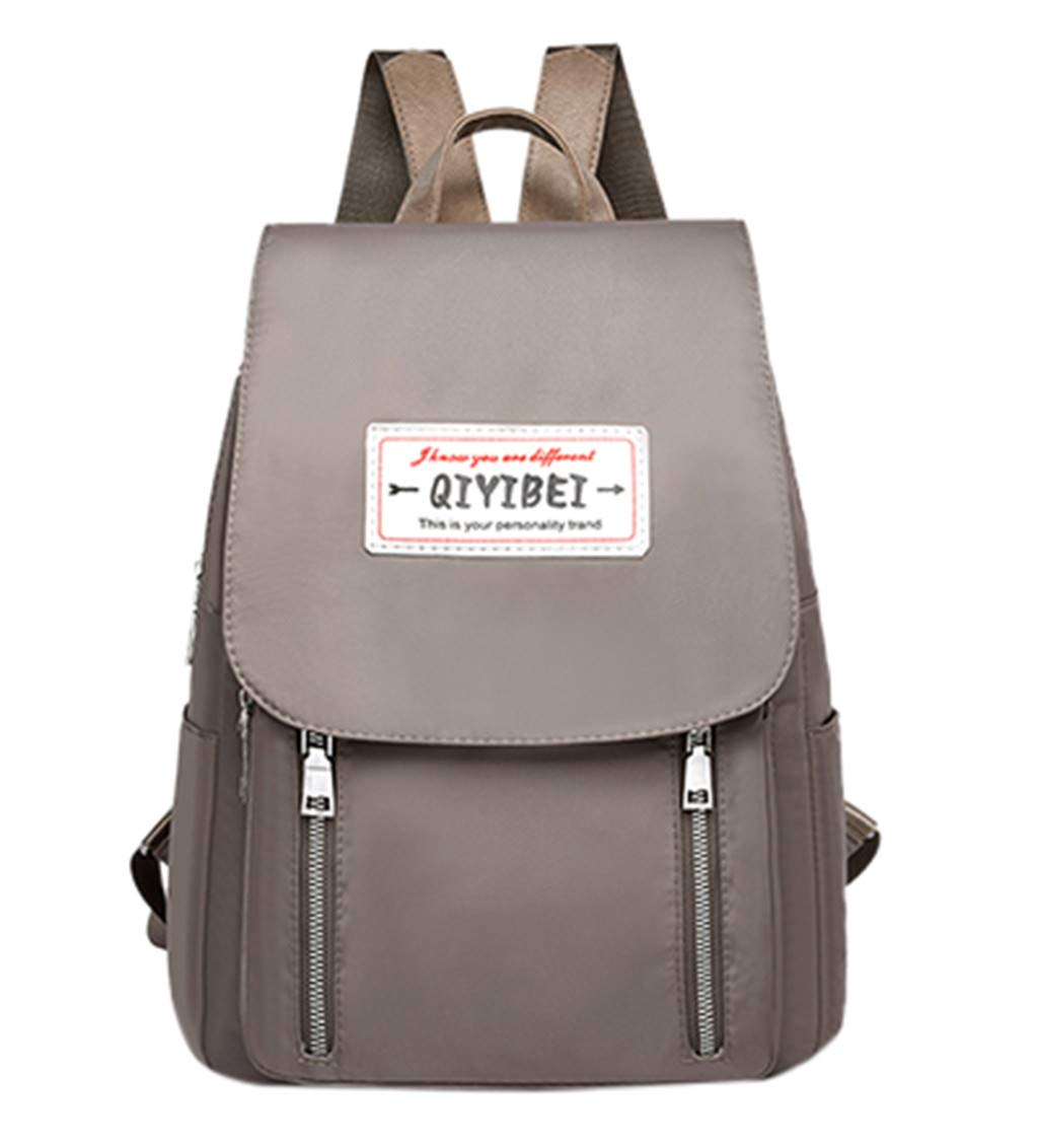 Women Backpack Purse Oxford Anti-Theft Casual Lightweight Travel School Shoulder Bag Computer Bag Student Rucksack Gray