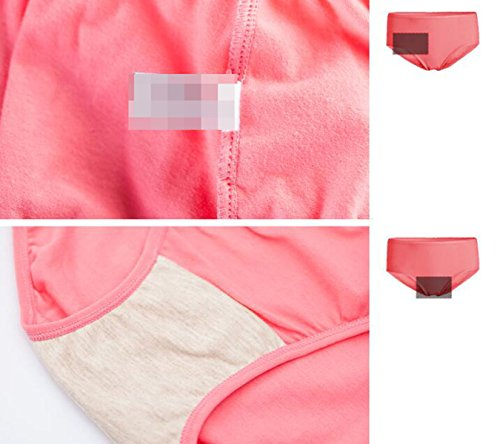 [3 Pack] Las Mujeres De La Ropa Interior De Algodón Elástico Atractivo Del Cuerpo Transpirable Shu Piel En La Cintura De A3