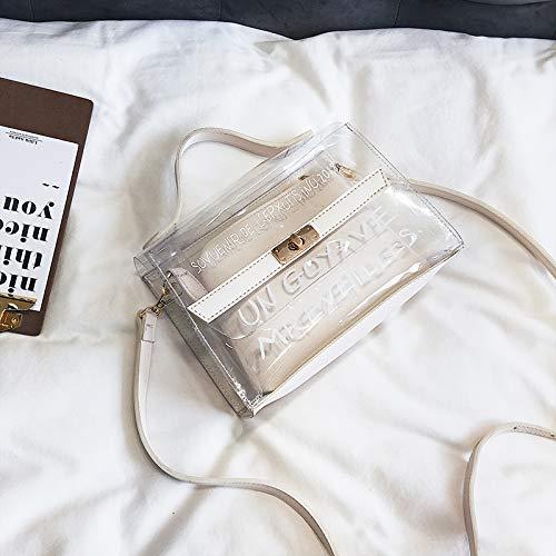 d'été WSLMHH Sac Mode de Version marée Sauvage Main Femme Transparent du Blanc gelée Sac Paquet épaule de de Sac à coréenne personnalité Messenger TwTqxrAR