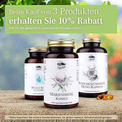 [Gesponsert]Kräuterhandel Sankt Anton - Mariendistel Kapseln - 90 Kapseln - hochdosiert - mit 80% Silymarin Anteil aus Mariendistelsamen...