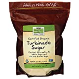 NATURAL Turbinado Sugar, TEMP Now Foods 2.5 lb Powder