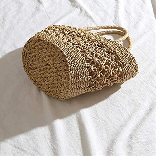 Handgemachte StrohsackFashion Beach Handbags Ladies Hand Bag Tote Travel Bohemian Hollow Straw Bag Women Summer Wicker Basket Bag
