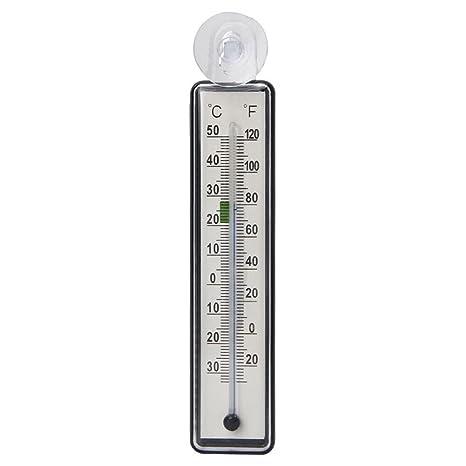 SODIAL Termometro del Acuario pecera Medidor de Vidrio Calibre de Temperatura del Agua Ventosa
