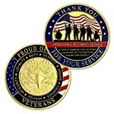 Military Veterans Challenge Coin Thank You for Your Service Appreciation Gift