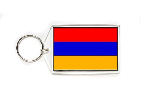 Amazon.com: Armenia Bandera de Armenia acrílico Llavero de ...