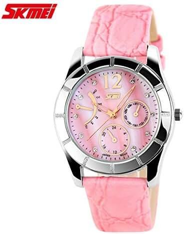 Girl's Perfect Crocodile Striae Band Quartz Watch Pink