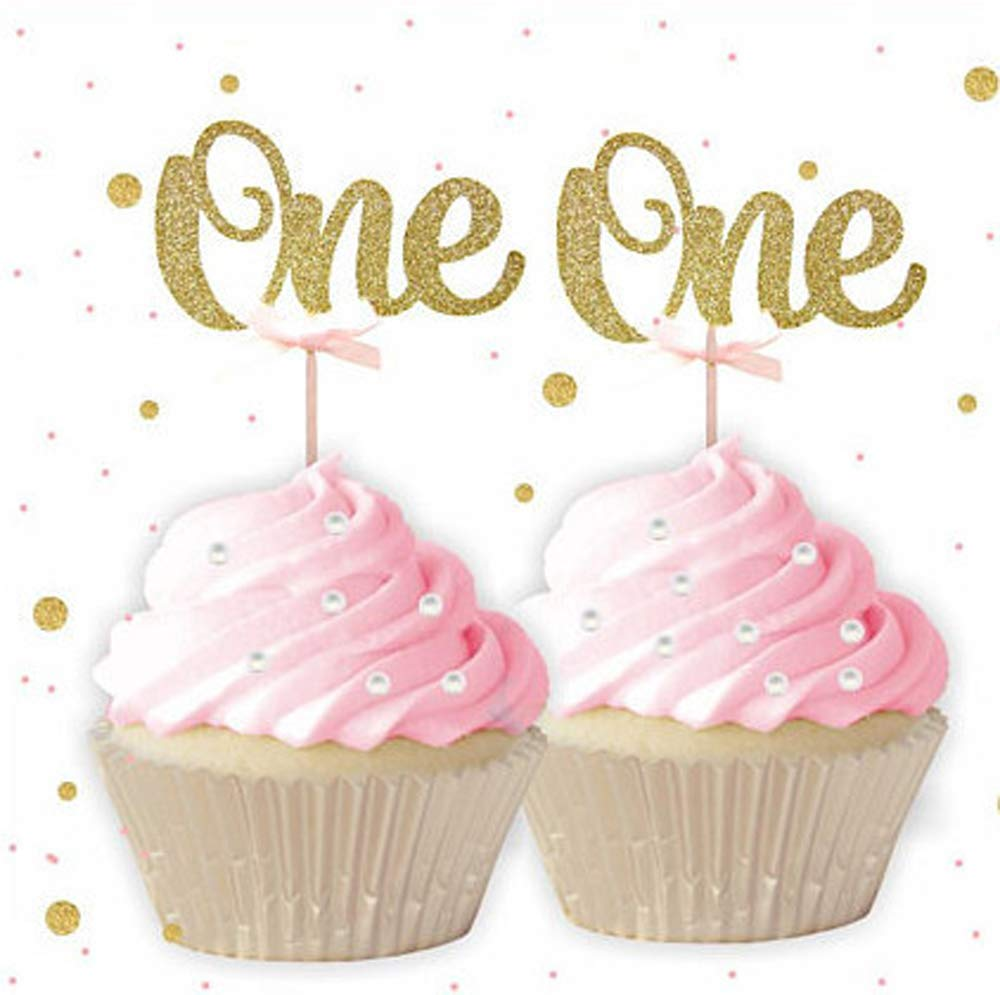 20pcs Star Cupcake Cake Topper Birthday Baby Shower Cake Centerpieces