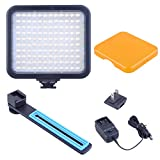Bestlight® 120PCS LED 7.2W Energy-Saving 5600K Color Temperature LED Video Light with Rechargeable Built-in Lithium Battery, including Bracket and Color Filter for Canon Nikon Sony DSLR Camera Lens