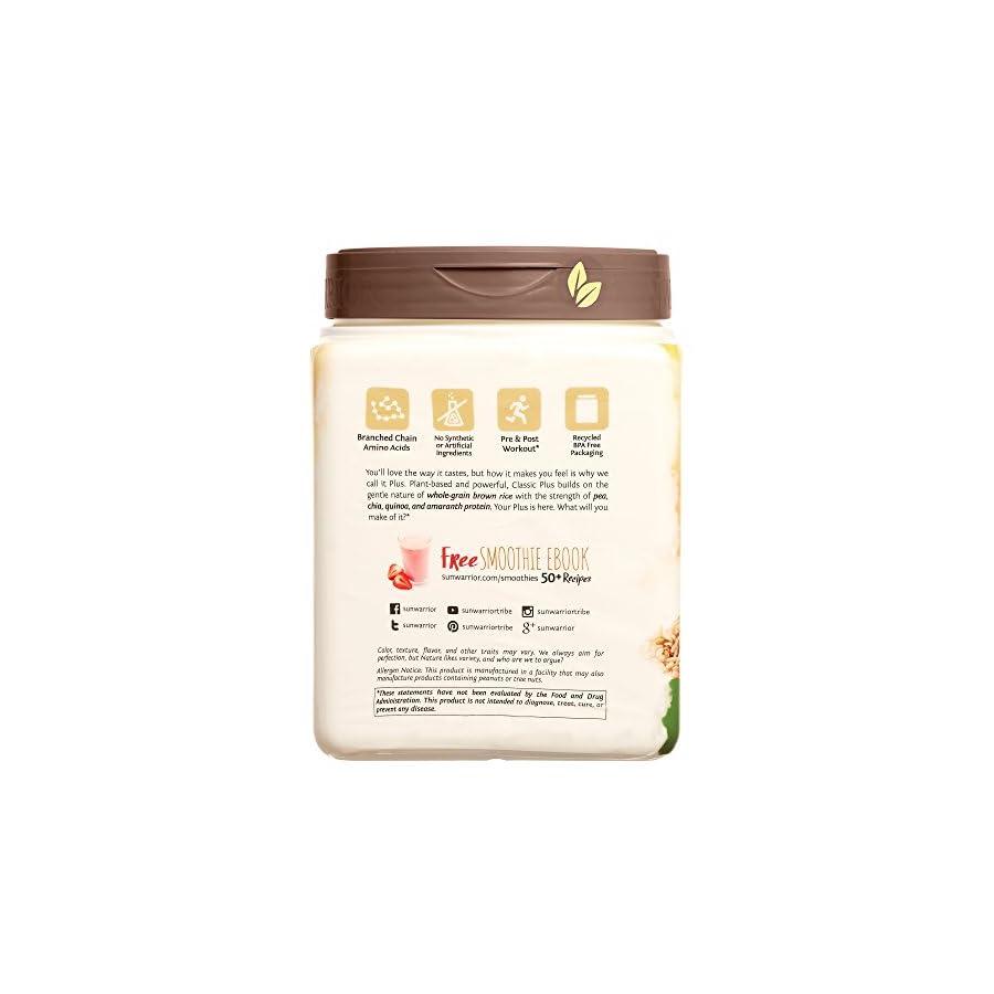 Sunwarrior Classic Plus, Raw Organic Plant Based Protein