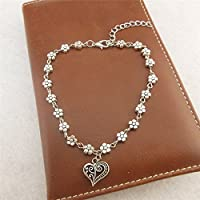 Fashion Gift Women Tibetan Silver Daisy Flower Chain Anklet Ankle Bracelet