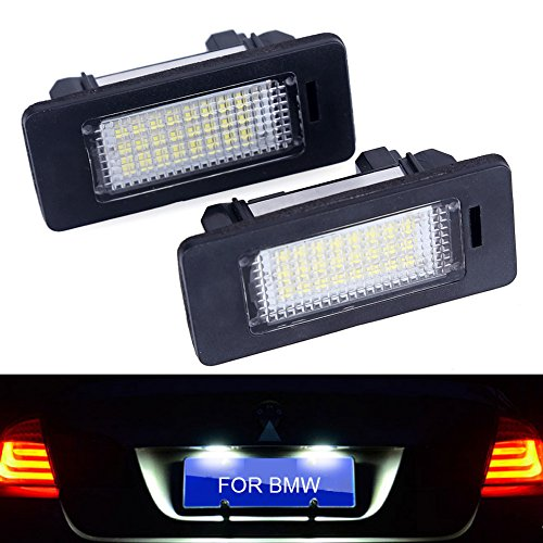 - Senled 2Pcs Error Free Car Led License Plate For BMW Tail Lights Assmebly Replacement Lights For BMW -12v White 6000K For BMW 1 3 5 Series x1 x 3 x5 x 6E39 E60 E82 E90 E92 E93 M3 (For BMW)