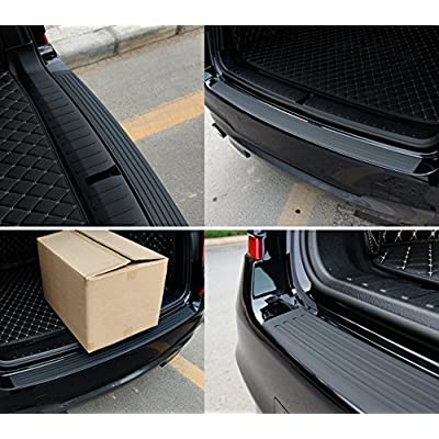 Advgears Rear Bumper Protector Guard Universal Black Rubber Scratch-Resistant Trunk Door Entry Guards Accessory Trim Cover for SUV/Cars(40.9Inch): Automotive