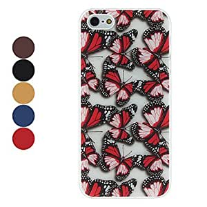 Elegant Butterfly Pattern Hard Case for iPhone 5/5S --- COLOR:Yellow