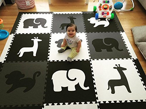 softtiles kids foam play mat safari animals theme nontoxic puzzle play mats for children 39 s. Black Bedroom Furniture Sets. Home Design Ideas