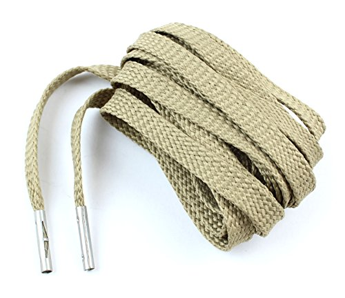 Flat Shoelaces Silver Metal Agelts