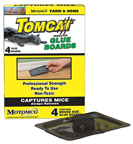 - MOTOMCO Tomcat Mouse and Rat Glue Board, 4-Pack