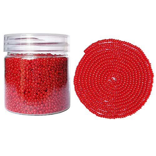 BALABEAD Size Uniform Seed Beads 10000pcs in Box Opaque red Seed Beads 12/0 Seed Beads Loose Spacer 2mm Seed Beads, Hole 0.6mm (Red)