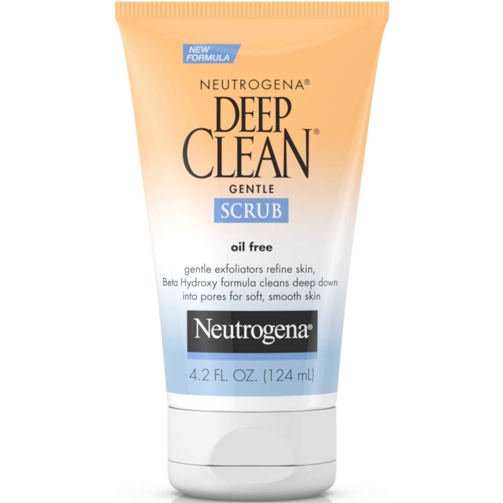 Neutrogena Deep Clean Gentle Daily Facial Scrub, Oil-Free Cleanser 4.2 fl. Oz (Pack of 2)